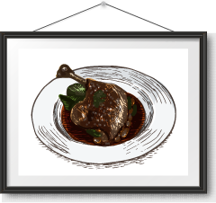 法式油封鴨脾 Duck Confit Photo Frame