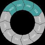 Seasonal circle (Nov - Feb)
