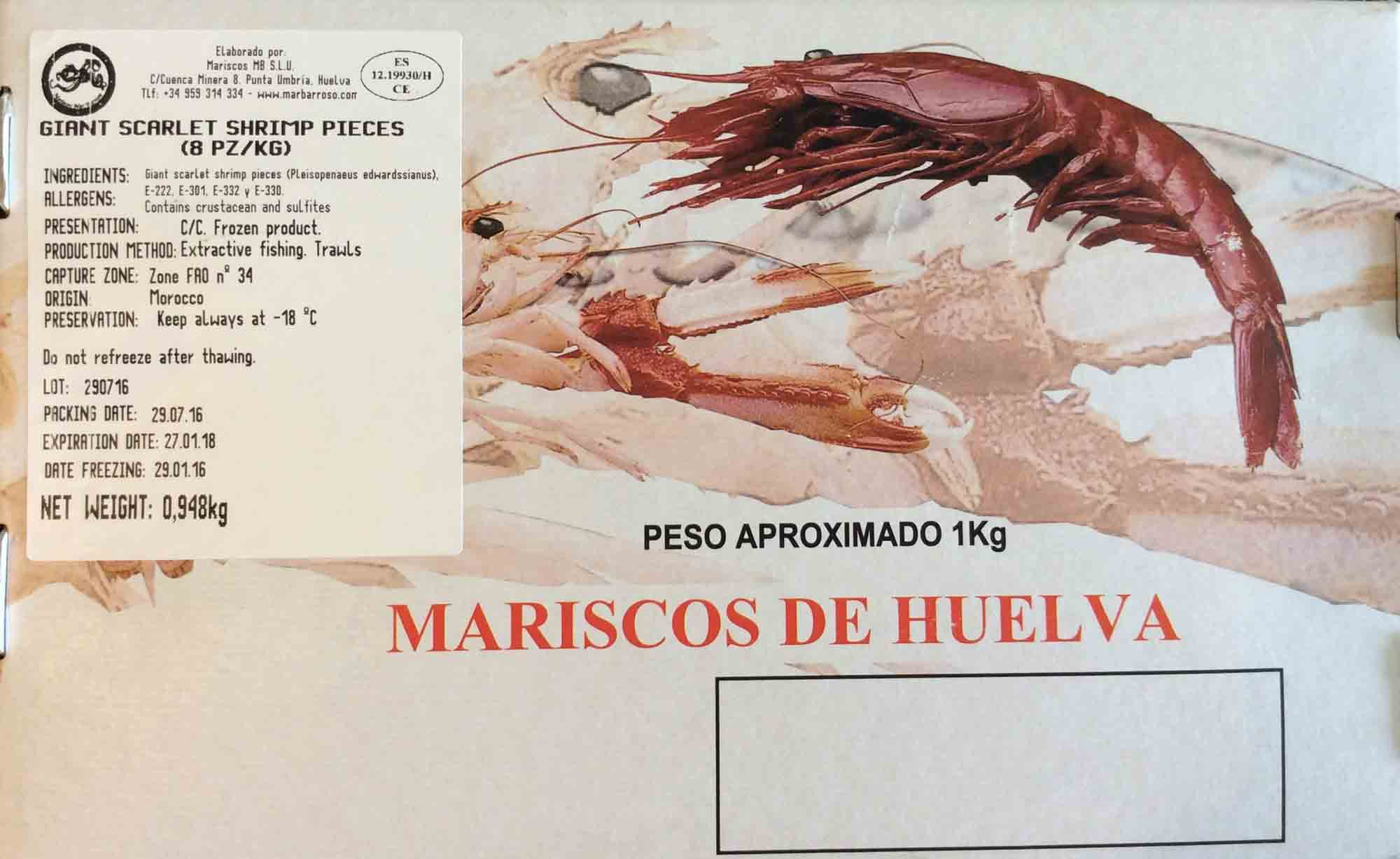 Spanish Red Prawn Product