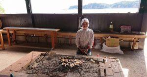 於日本海女小屋品嘗野生捕獲的海鮮 (facebook)