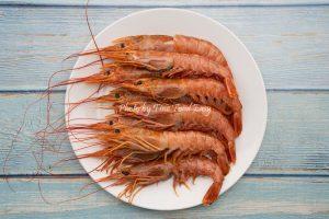 急凍野生阿根廷紅蝦 (刺身級 L1) Frozen Wild Caught Argentine Red Shrimp (Sashimi grade L1)