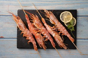 急凍野生阿根廷紅蝦 (刺身級 L2) Frozen Wild Caught Argentine Red Shrimp (Sashimi grade L2)